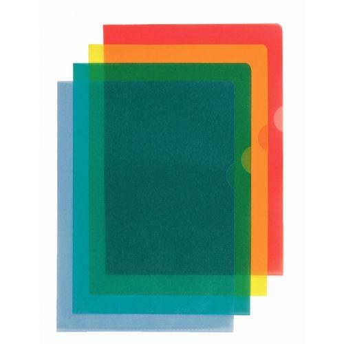 Esselte Copy-safe Folder Plastic Cut Flush A4 Red Ref 54833/54834 [Pack 100]