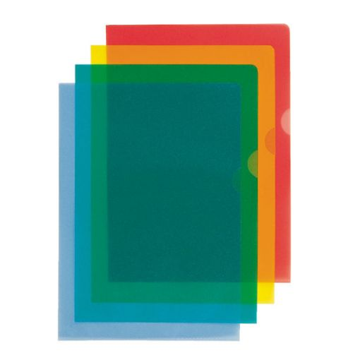 Esselte Folders PVC Cut back Blue A4 105 micron 54837(PK100)