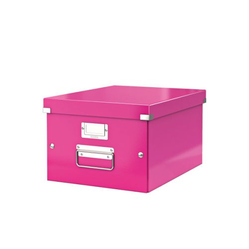 Leitz Click Store Medium Storage Box Pink 60440001