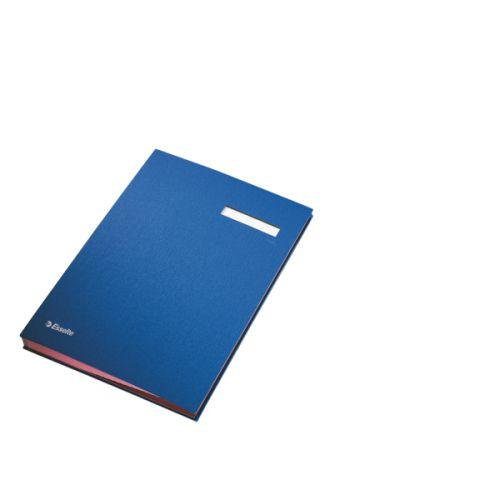 Signature Book 20 Compartments Durable Blotting Card 340x240mm Blue
