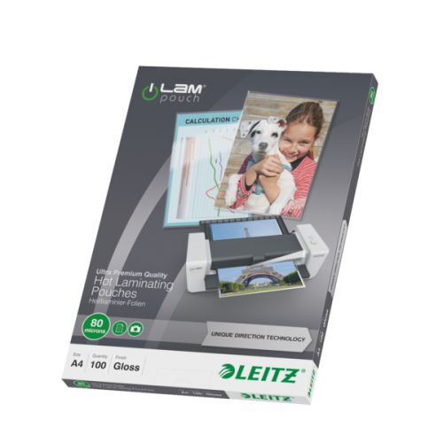Leitz Laminator Pouch A4 160 Micron Ref 74780000 [Pack 100]