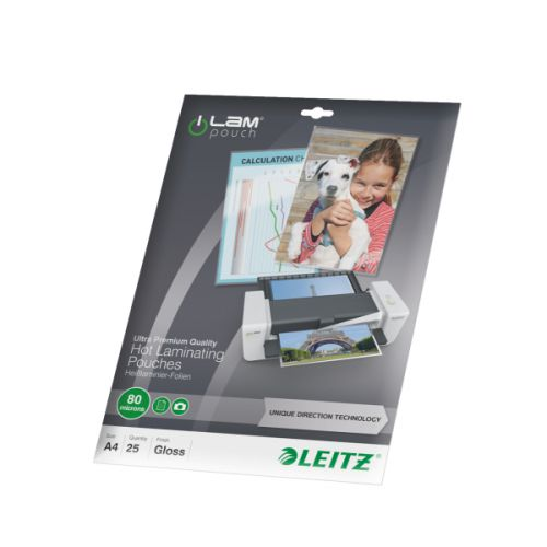 Leitz Laminator Pouch A4 160 Micron Ref 74790000 (Pack 25)