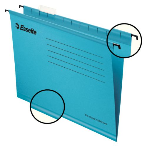 Esselte Classic A4 Blue Suspension File (Pack of 25) 90311