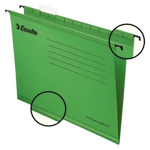 Esselte Classic Foolscap Suspension File Green (Pack of 25) 90337