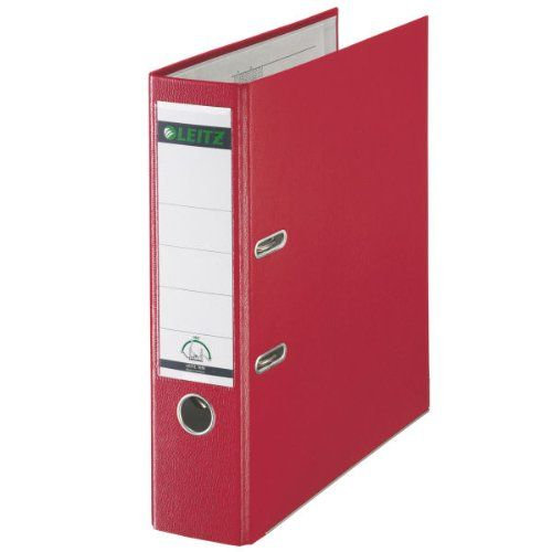 Leitz 180 Lever Arch File Polypropylene A4 80mm Spine Width Red (Pack 10)
