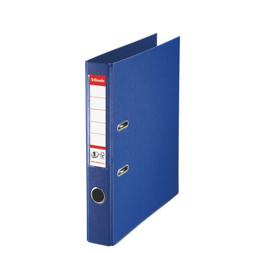 Esselte FSC No. 1 Power Mini Lever Arch File PP Slotted 50mm Spine A4 Blue Ref 811450 [Pack 10]