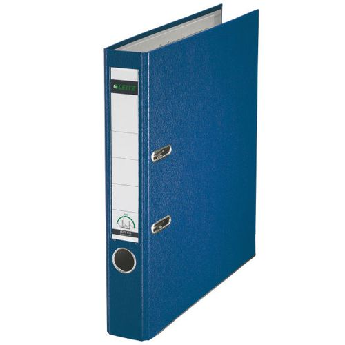 Leitz 180 Lever Arch File Poly 50mm A4 Blue (Pack of 10) 10151035