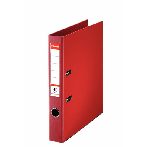 Esselte No.1 Lever Arch File Polypropylene A4 50mm Spine Width Red (Pack 10)