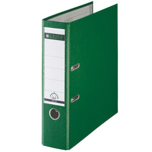 Leitz 180 Lever Arch File Poly 80mm A4 Green (Pack of 10) 10101055