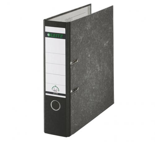 Leitz FSC Standard Lever Arch File 80mm Capacity A4 Black Ref 10801095 [Pack 10]