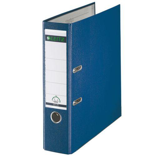 Leitz FSC Lever Arch File Plastic 80mm Spine Foolscap Blue Ref 11101135 [Pack 10]