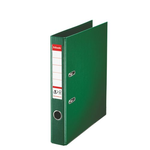 Esselte FSC No. 1 Power Mini Lever Arch File PP Slotted 50mm Spine A4 Green Ref 811460 [Pack 10]