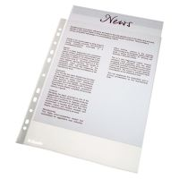 Esselte Economy Punched Pocket Polypropylene Top-opening 43 Micron A4 Clear Ref 56133 [Pack 100]