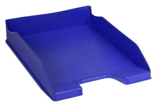 Tollit Forever Letter Tray Recycled Plastic Stackable Front-load A4plus Cobalt Blue
