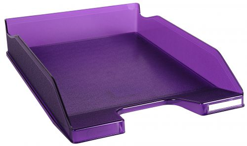 Exacompta Iderama A4 Letter Tray Purple (W255 x D346 x H65mm) 11319D
