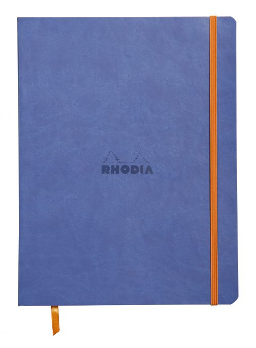 Rhodiarama 190x250mm Soft Cover Casebound Notebook Ruled 160 Pages Sapphire Blue