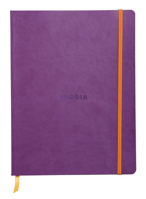 Rhodiarama 190x250mm Soft Cover Casebound Notebook Ruled 160 Pages Purple