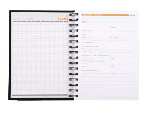 Rhodia Black A5 Wirebound Business Book (Pack of 3) 119233C