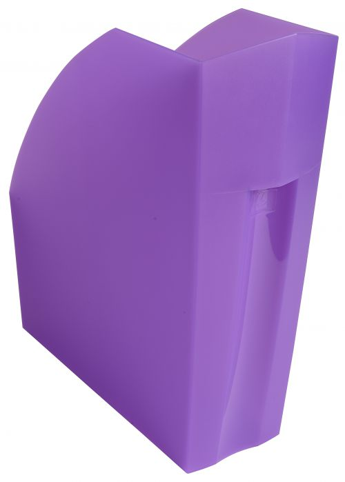 Exacompta Iderama A4 Magazine File Purple (W110xD346xH320mm) 18019D