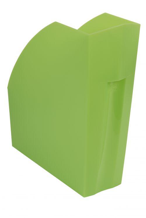 Exacompta Iderama A4+ Magazine File Lime (W110 x D346 x H320mm) 18097D