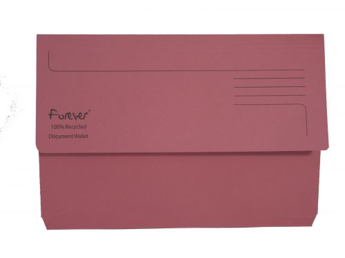 Exacompta Forever Document Wallet Manilla Foolscap Bright Pink (Pack of 25) 211/5002
