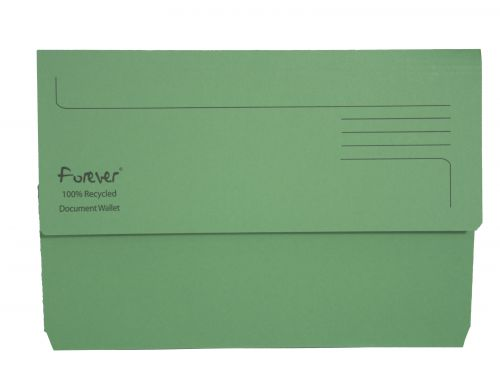 Exacompta Forever Document Wallet Manilla Foolscap Bright Green (Pack of 25) 211/5004