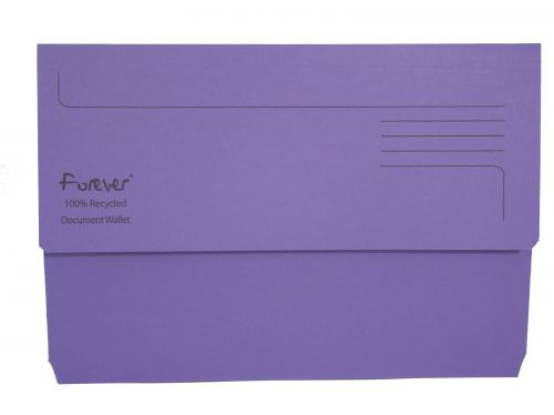 Exacompta Forever Document Wallet Manilla Foolscap Bright Purple (Pack of 25) 211/5005
