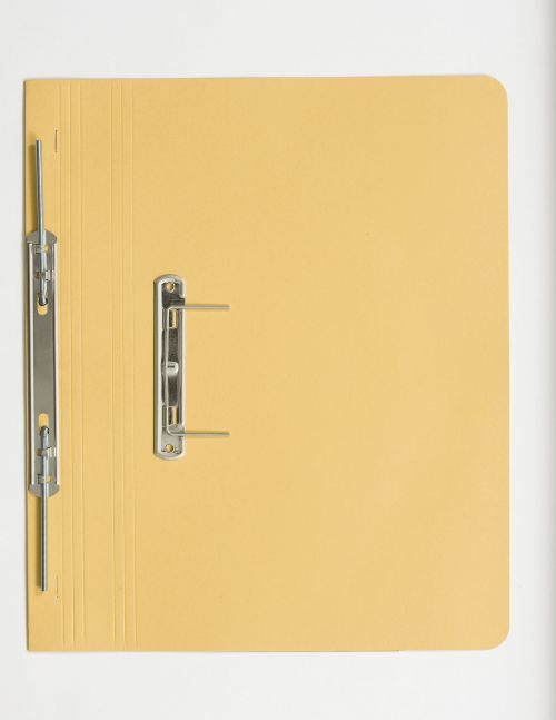 Guildhall Transfer Spring Files Super Heavyweight 420gsm Foolscap Yellow Ref 211/7003Z [Pack 25]