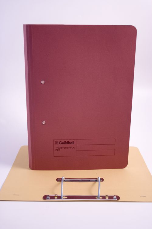 Guildhall Transfer Spring Files Super Heavyweight 420gsm Foolscap Red Ref 211/7005Z [Pack 25]