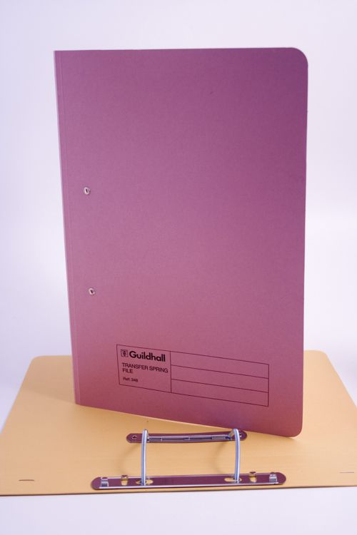 Guildhall Transfer Spring Files Super Heavyweight 420gsm Foolscap Pink Ref 211/7006Z [Pack 25]