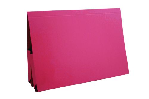 Exacompta Guildhall Legal Double Pocket Wallet Foolscap Red (Pack of 25) 214-RED
