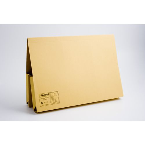 PRW2-YLW Pack of 25 Guildhall Yellow Probate Document Wallet