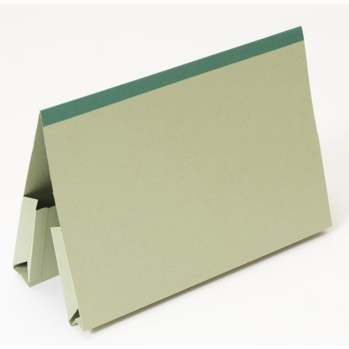 Guildhall Double Pocket Legal Wallet Manilla Foolscap 315gsm Green (Pack 25)