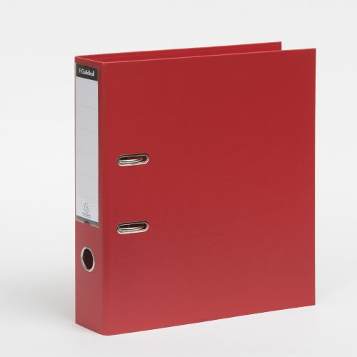 Exacompta Guildhall 80mm Lever Arch File A4 Red (Pack of 10) 222/2002Z