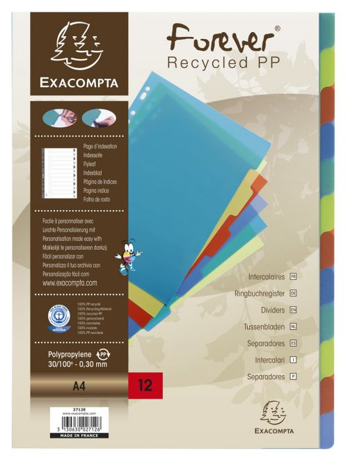 Forever PP A4 Dividers 12 Part