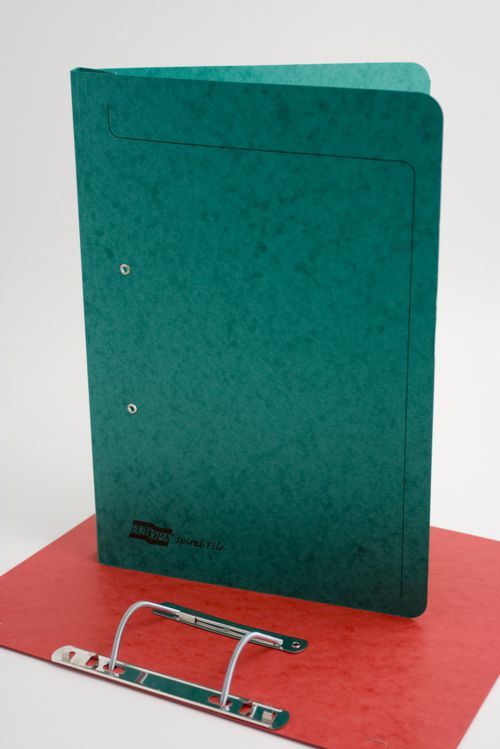 Exacompta Europa Spiral Files Foolscap Green (Pack of 25) 3003