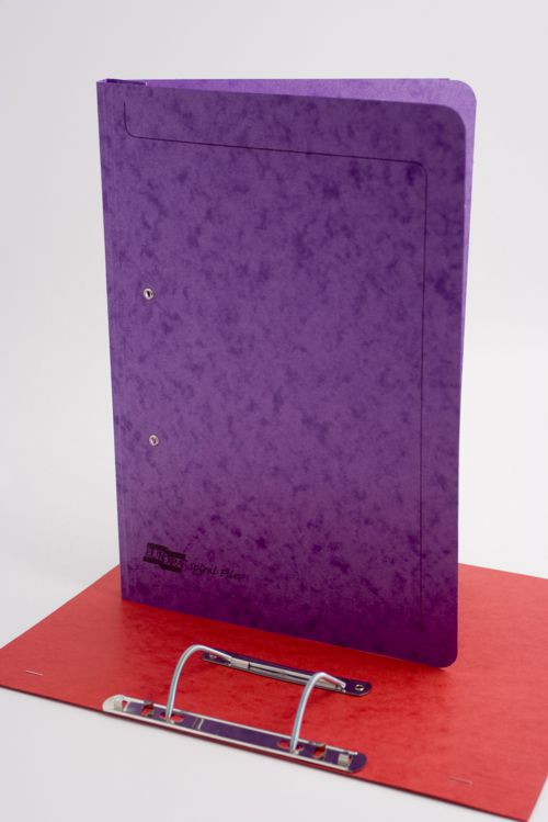 Exacompta Europa Spiral Files Foolscap Lilac (Pack of 25) 3004