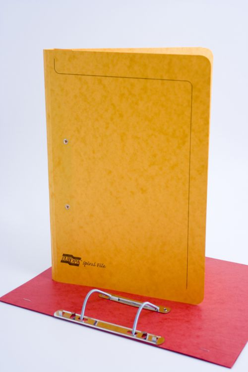 Exacompta Europa Spiral Files Foolscap Yellow (Pack of 25) 3006