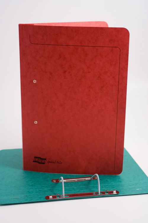 Exacompta Europa Spiral Files A4 Red (Pack of 25) 3008