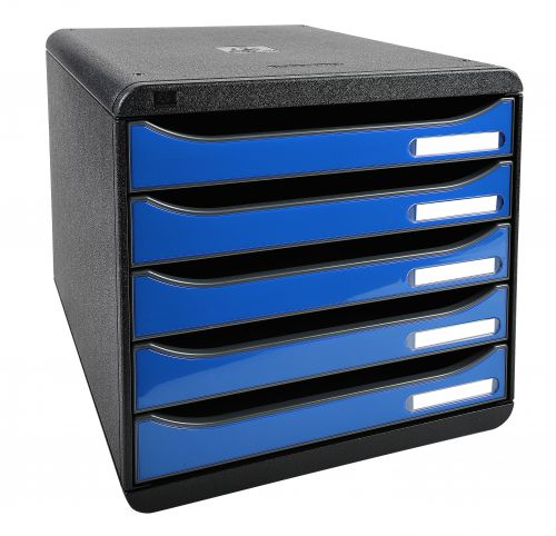 Exacompta Iderama Big Box Plus 5 Drawer Set Blue (Dimensions: W278 x D347 x H271mm) 3097279D