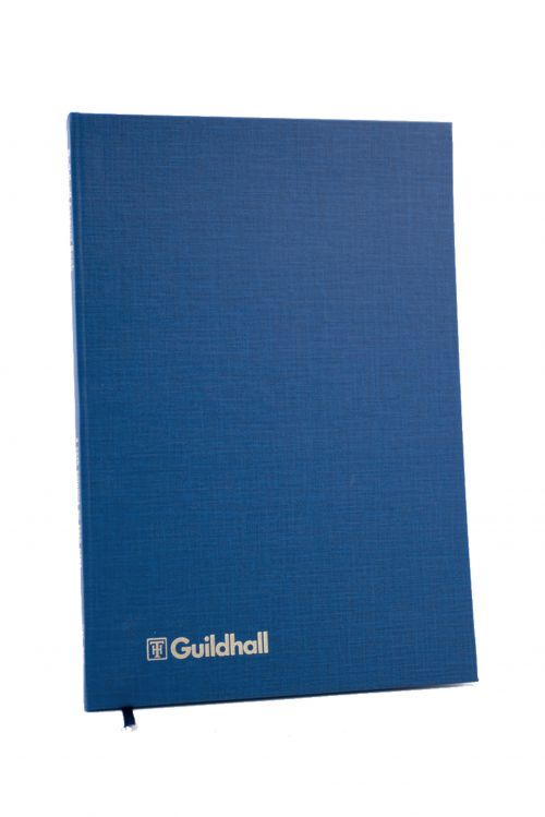 Guildhall Account Book Casebound 298x203mm 2 Cash Columns 80 Pages Blue
