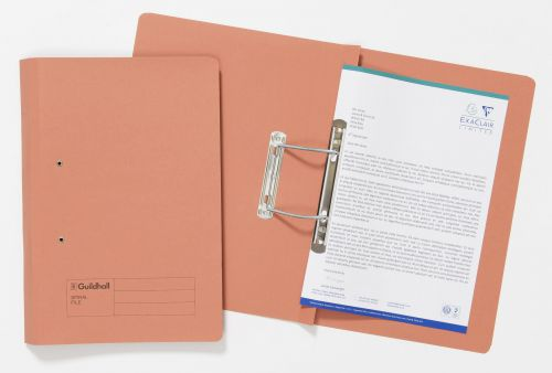 Exacompta Guildhall Transfer File 285gsm Foolscap Orange (Pack of 25) 346-ORGZ