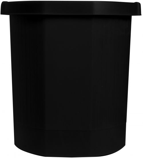 Exacompta Forever Waste Bin Black 435014D