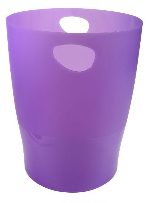 Exacompta Iderama 15 Litre Waste Bin Purple (W263 x D263 x H335m) 45319D