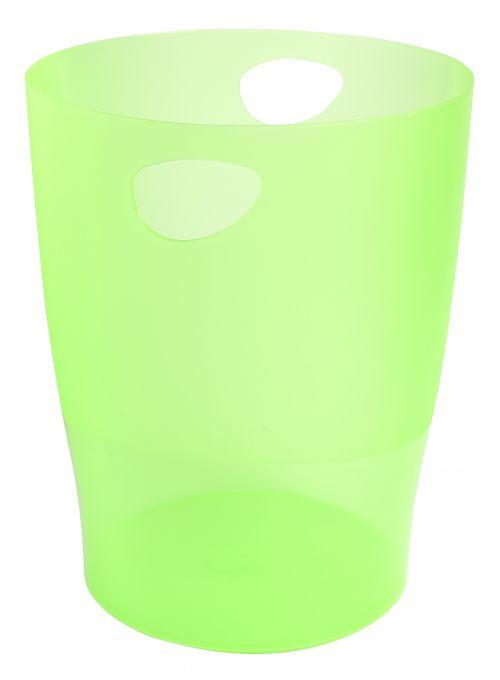Exacompta Iderama 15 Litre Waste Bin Lime (D263 x H335mm) 45397D