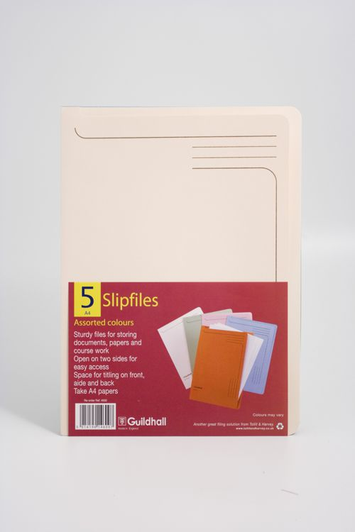 Guildhall Slip File 315x230mm Assorted Pack 50