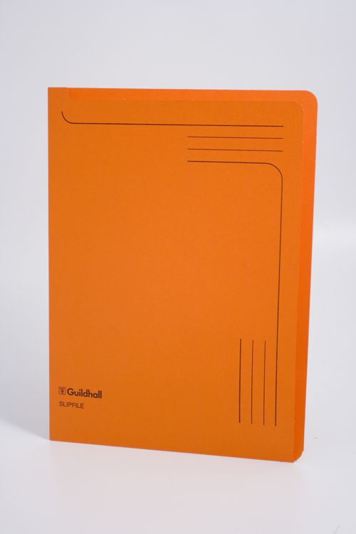 Exacompta Guildhall Slipfile Manilla 230gsm Orange (Pack of 50) 4607Z