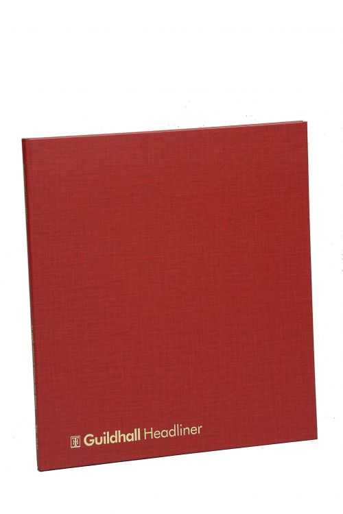 Guildhall Headliner Account Book 298x273mm 6 Deb 12 Cred 80P
