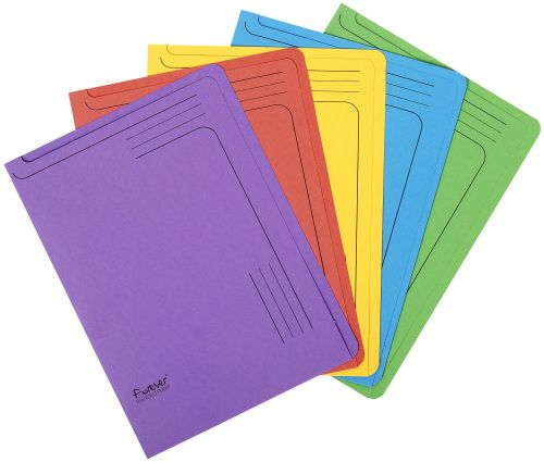 Forever Slip File A4 290gsm Assorted PK25