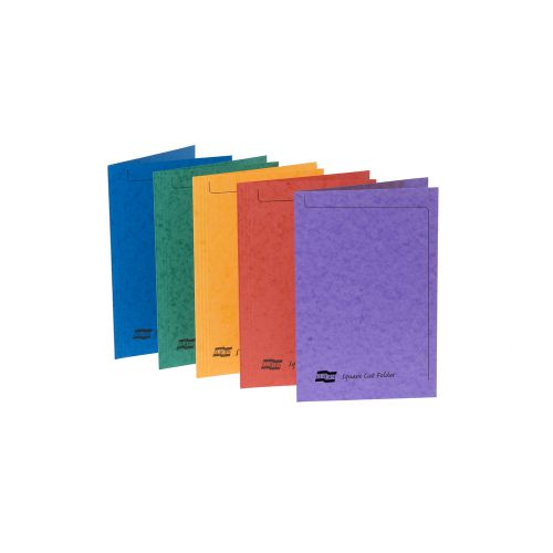 Europa Square Cut Folder 300 micron Foolscap Assorted (Pack of 50) 4820